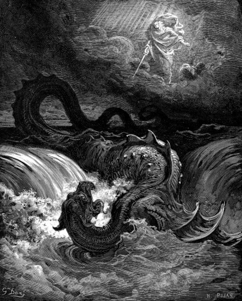 Destruction of Leviathan - Gustave Doré