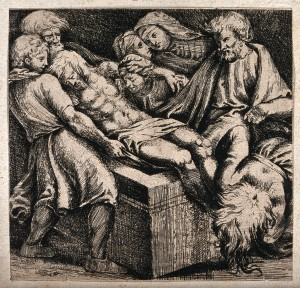 Christ's body is carried to its tomb. Click image for source