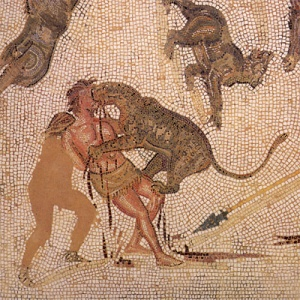 A  3rd century mosaic depicting a donatist punishment (click image for source)